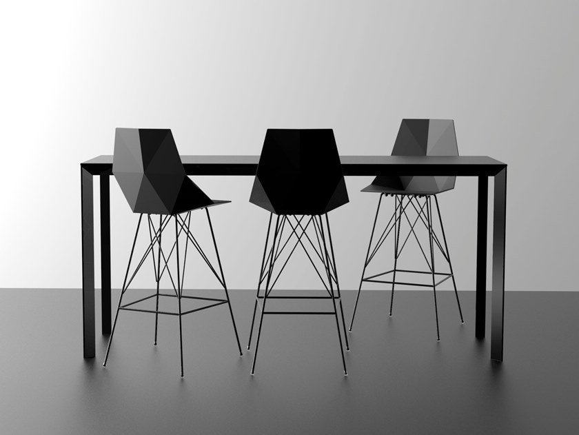 Rectangular polyethylene high table FRAME | High table by VONDOM