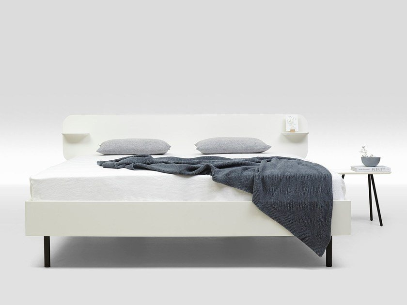 Lacquered MDF double bed FRAME LACQUERED TYPE 1 by Loof
