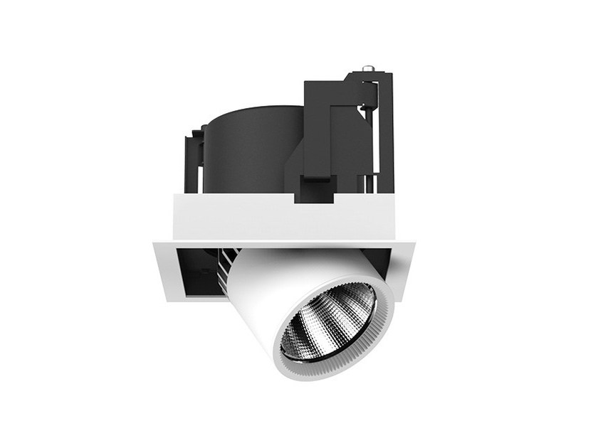 LED semi-inset adjustable aluminium spotlight FRAME M by LANZINI