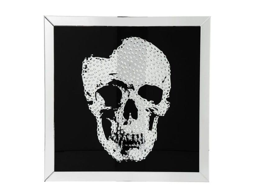 Glass Print on glass FRAME MIRROR SKULL By KARE-DESIGN