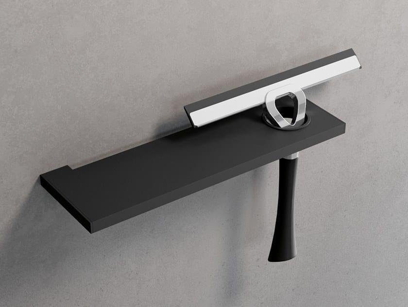 Mensola bagno in metallo con porta tergivetro FRAME | Mensola bagno in metallo by NOVELLINI