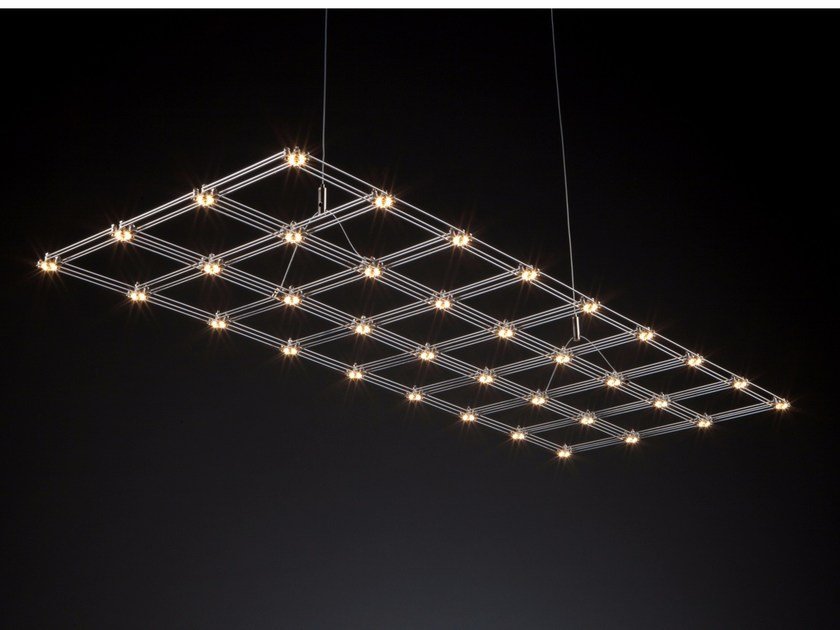 Nickel pendant lamp FRAME by Quasar