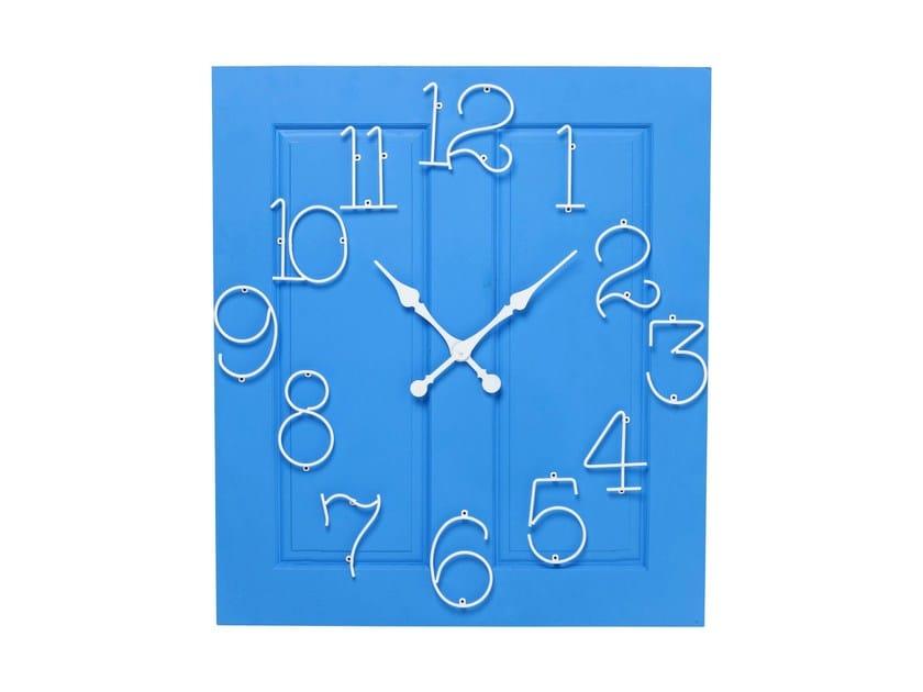 Wall-mounted MDF clock FRAME SANTORINI by KARE-DESIGN