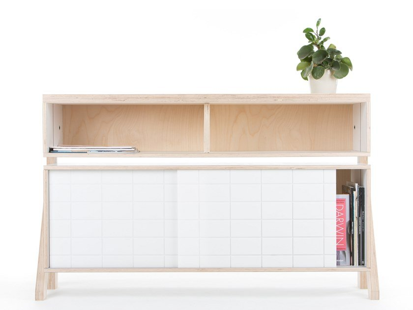 Sideboard with sliding doors FRAME SIDEBOARD 02 SMALL by rform