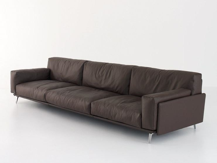 Upholstered leather sofa FRAME | Sofa by arflex