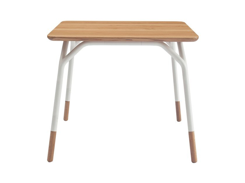 Square steel and wood table FRAME | Square table by Italcollections