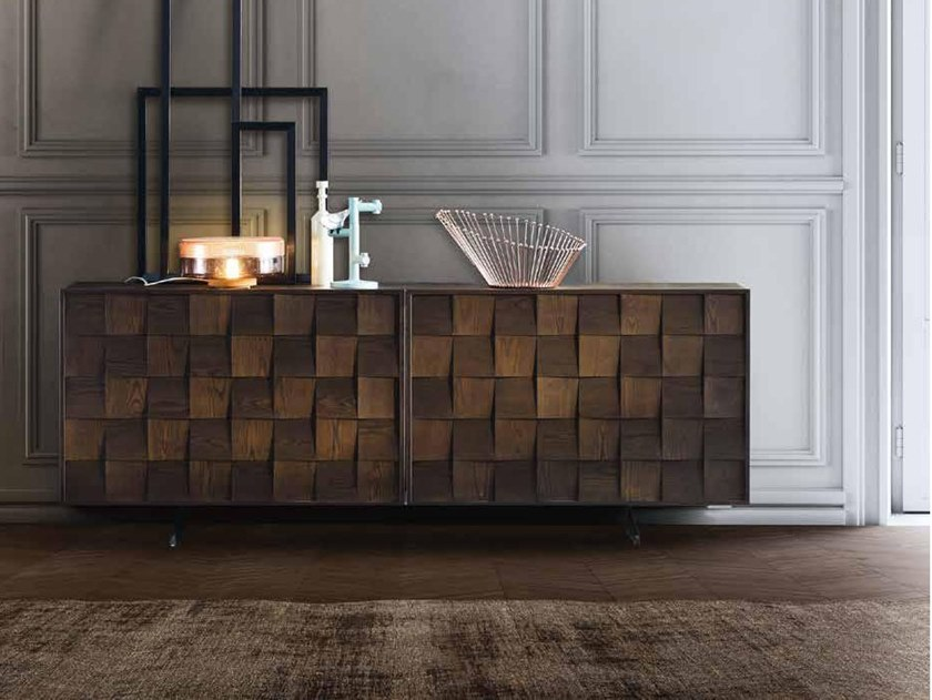 Wooden sideboard FRAME by ZANETTE