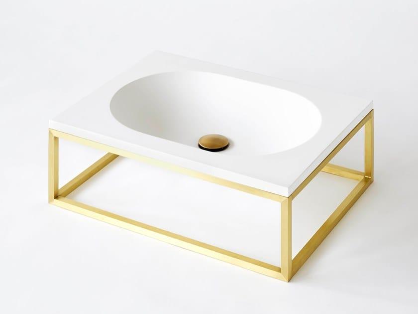 Lavabo rectangulaire simple suspendu en Livingtec® FRAME | Lavabo by Ex.t