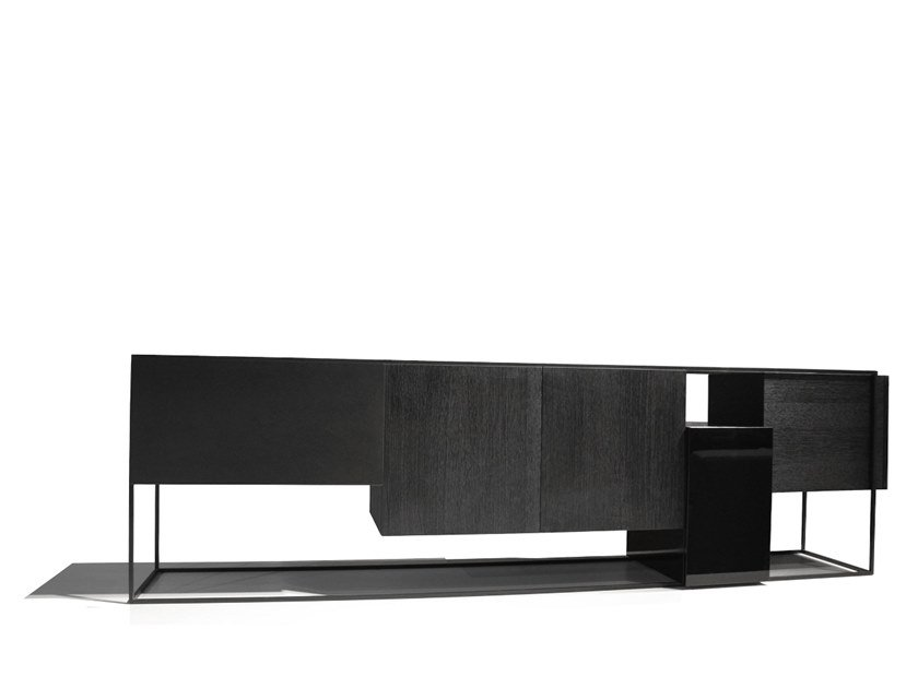 Sideboard with doors FRAMED BLACK EDITION by Moca