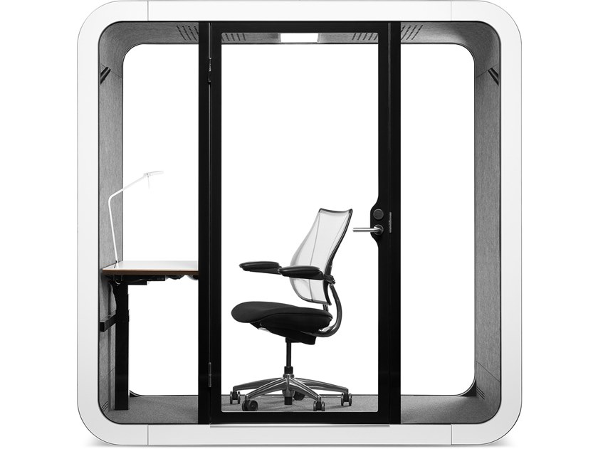 Isola ufficio acustica multimediale con illuminazione integrata FRAMERY Q - MeTIME by Framery