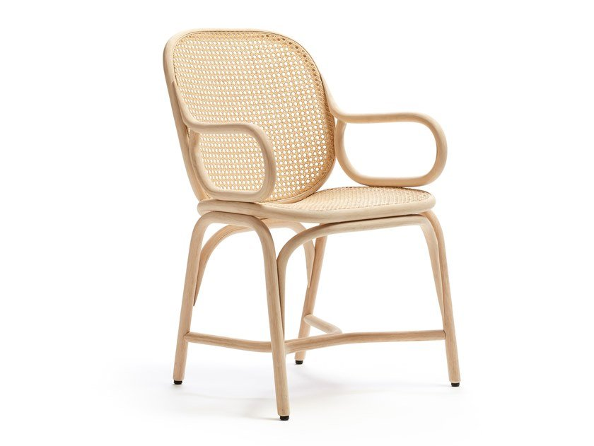 Rattan chair with armrests FRAMES | Chair with armrests by EXPORMIM