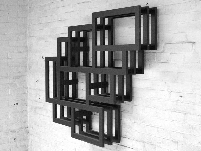 Wall-mounted lacquered MDF bookcase FRAMES WALL by Palau