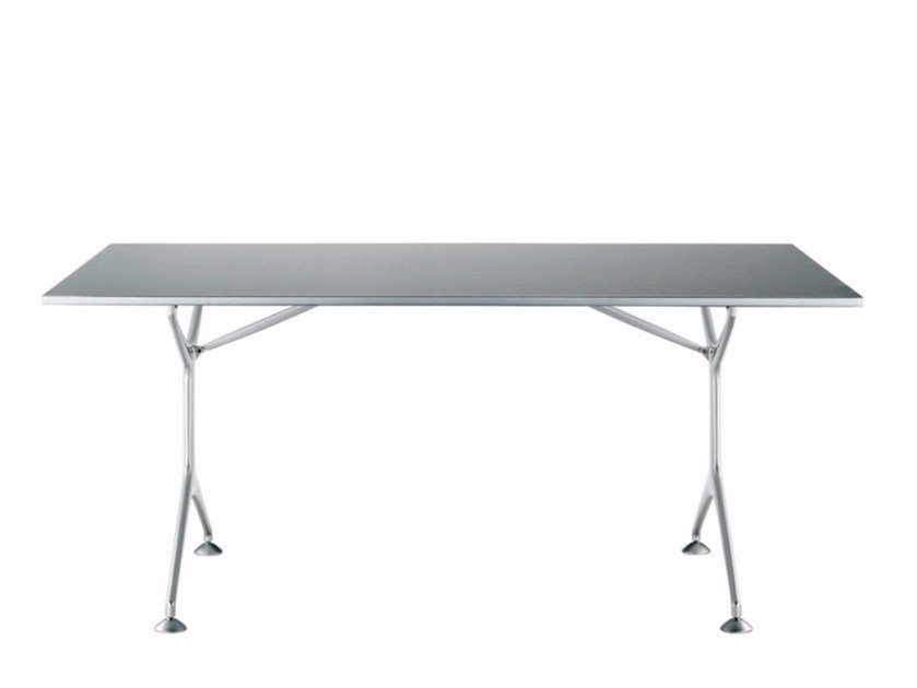 Tavolo pieghevole rettangolare in alluminio FRAMETABLE 160F - 495_160F by Alias