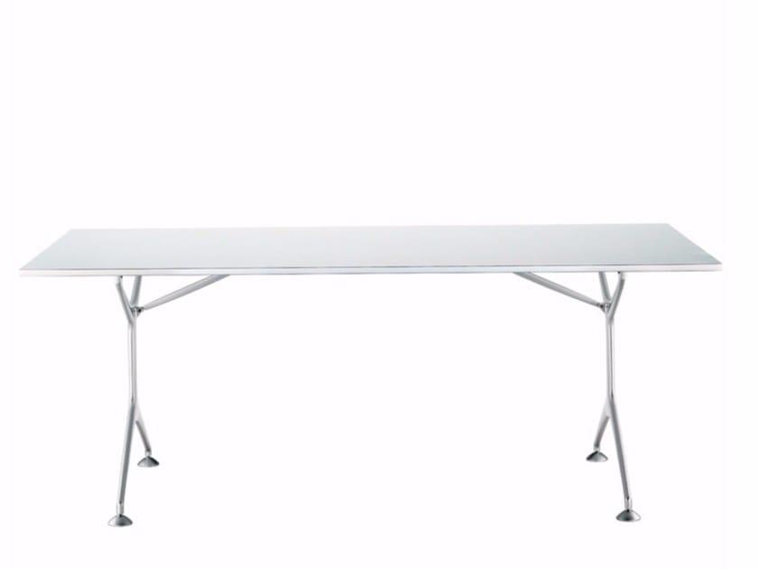 Klappbarer rechteckiger Tisch aus Aluminium FRAMETABLE 190F - 495_190F by Alias