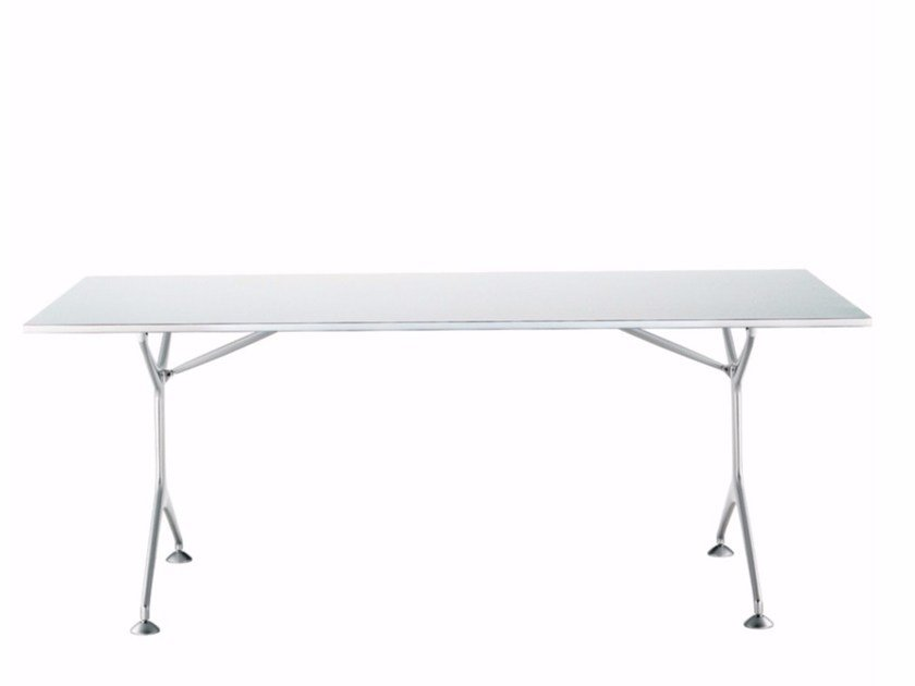 Folding rectangular aluminium table FRAMETABLE 190F - 495_190F by Alias