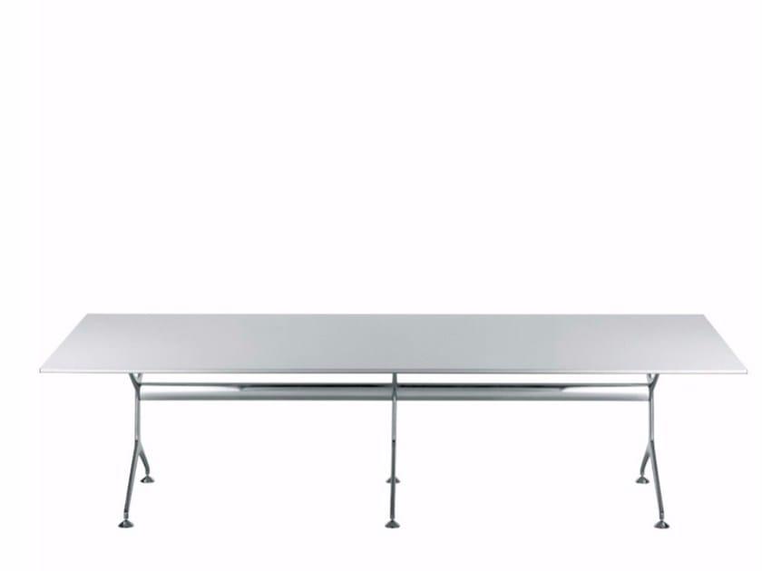 Rectangular wood veneer table FRAMETABLE 295XL - 496_295XL by Alias