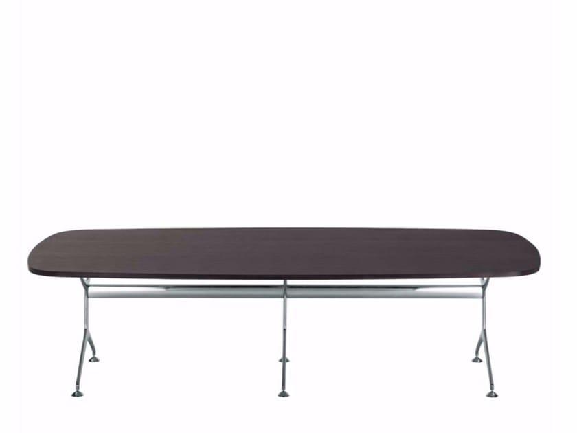 Oval wood veneer table FRAMETABLE 295XL - 498_295XL by Alias