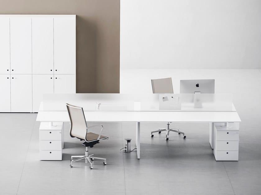 Rectangular workstation desk FRAMEWORK 2.0 - EXTRALONG by FANTONI