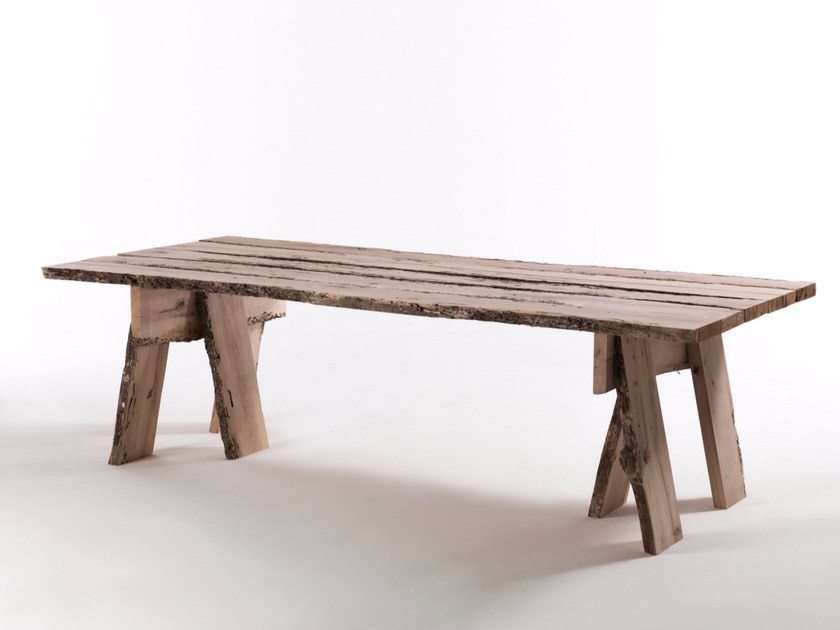 Rectangular wooden table FRAMMENTI DI WABI-SABI by Riva 1920