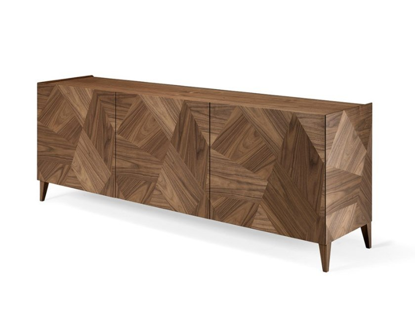 Walnut sideboard with doors FRAMMENTI L411N | Sideboard by Arte Brotto