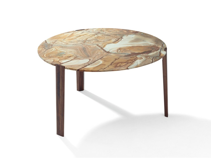 Round natural stone table FRANCIS | Round table by Draenert
