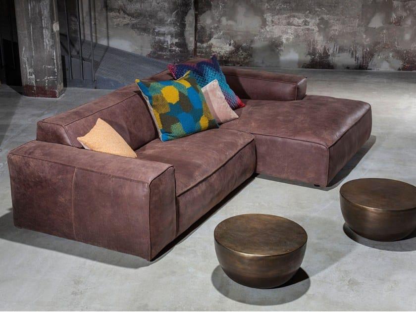 Corner leather sofa FRANKI B PROMO FUNCTION by KARE-DESIGN