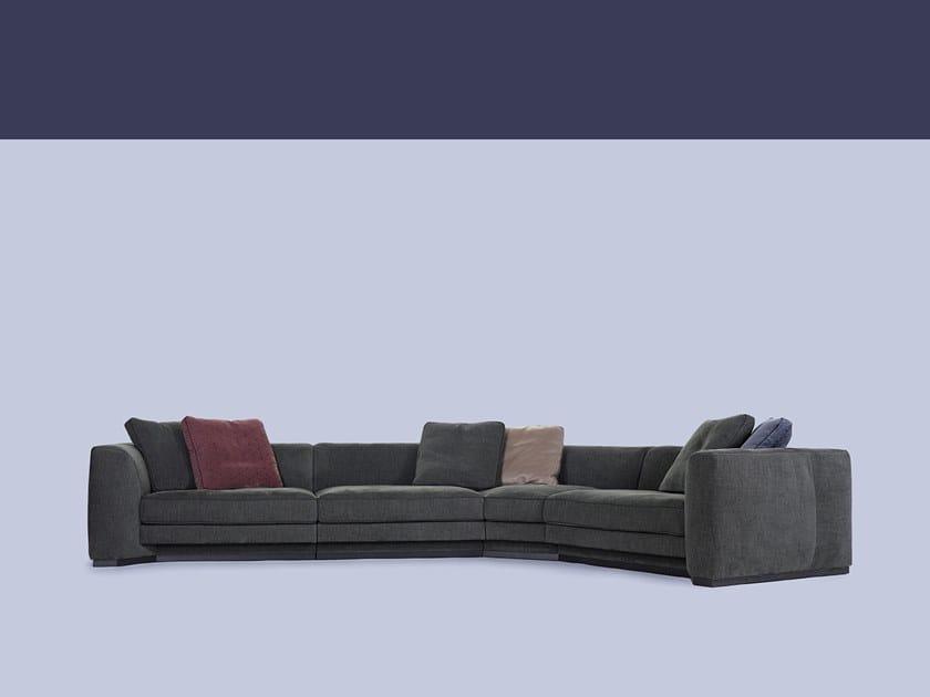 Divano Componibile Curvo : Divano componibile curvo in tessuto franklin divano curvo borzalino