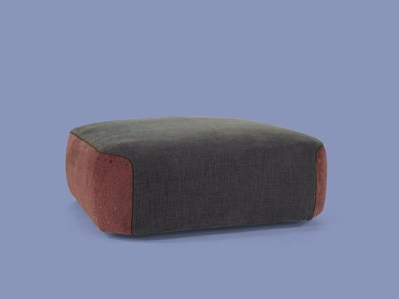 Upholstered fabric pouf FRANKLIN | Pouf by Borzalino