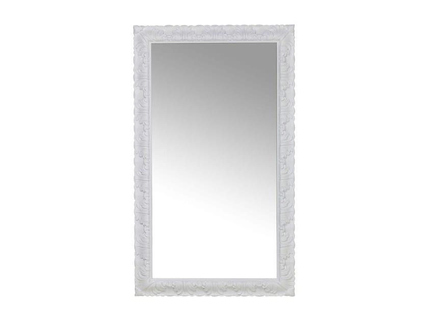 Rectangular wall-mounted framed mirror FRASCA WHITE by KARE-DESIGN