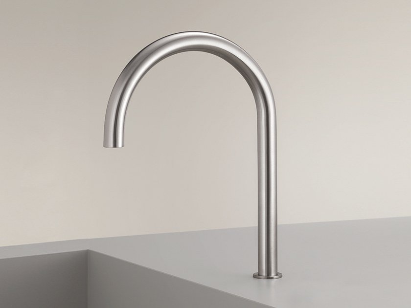 Deck-mounted stainless steel spout FRE 144 by Ceadesign