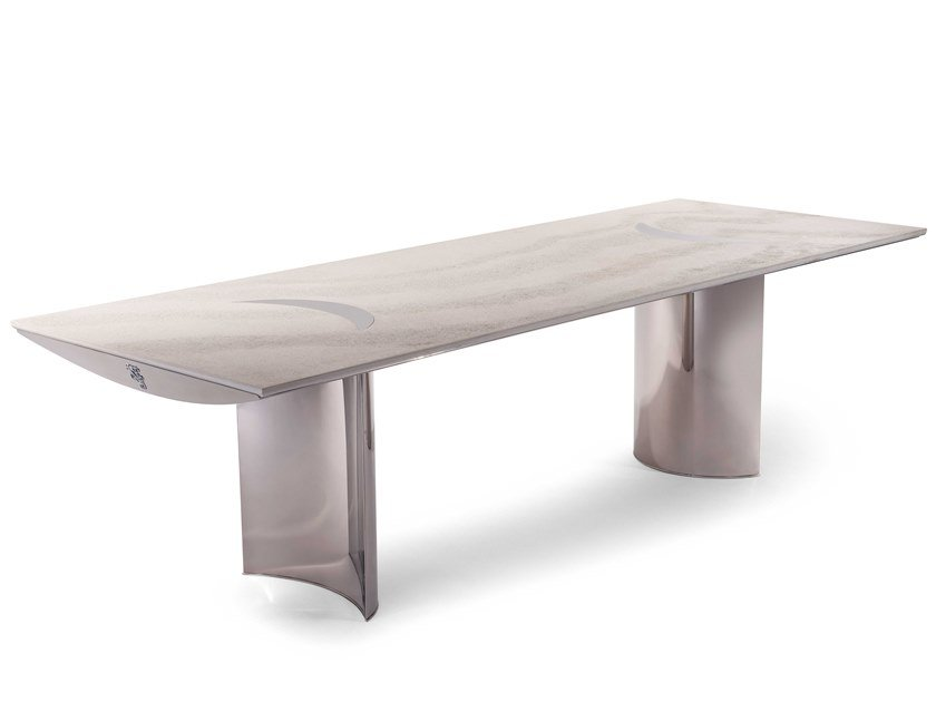 Rectangular cement garden table FREDDIE | Table by Visionnaire