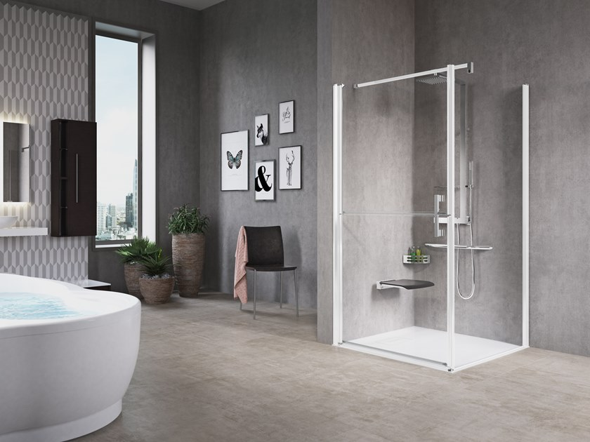 Niche shower cabin with hinged door FREE 1 G+F by NOVELLINI