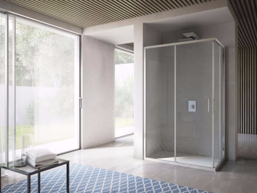 Crystal shower cabin with sliding door FREE | Crystal shower cabin by Idea