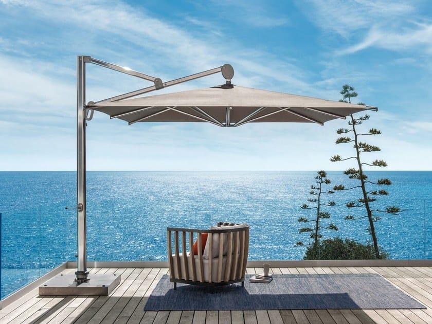 Adjustable square offset Garden umbrella FREEDOM | Garden umbrella by Ethimo