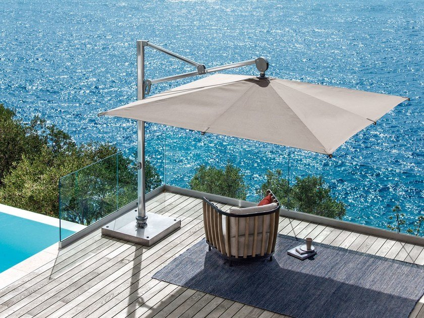 Beautiful Adjustable Square Offset Garden Umbrella FREEDOM By Ethimo