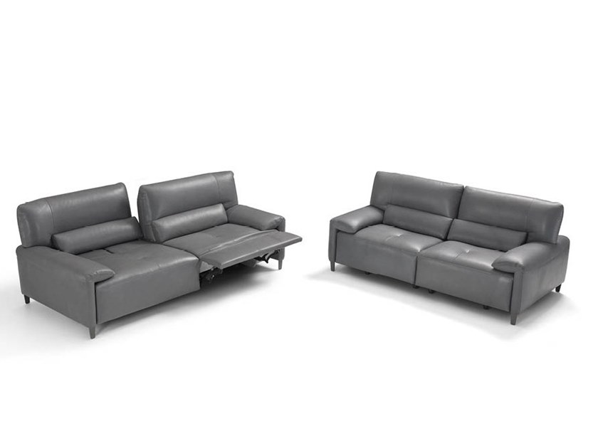 Recliner leather sofa FREEDOM by Max Divani