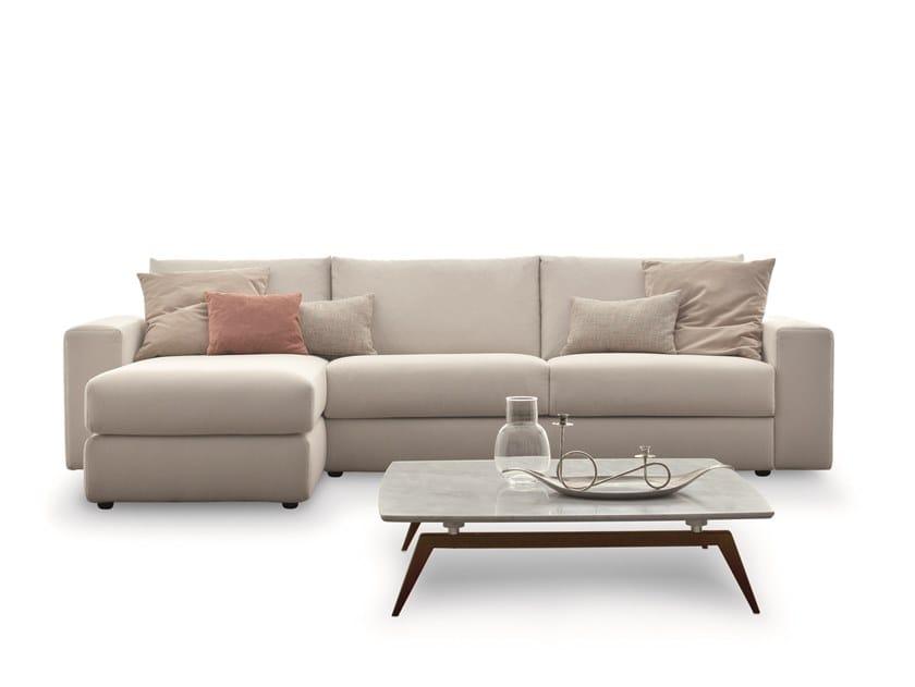Divano letto in tessuto in stile moderno a 2 posti a 3 posti con chaise longue FREEDOM | Divano con chaise longue by Ditre Italia