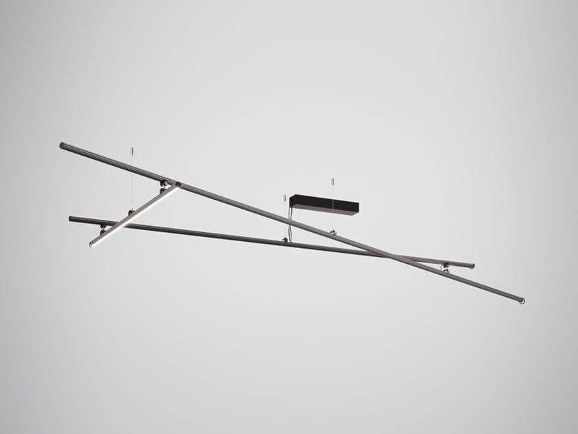 Lampada da soffitto a LED a luce diretta in alluminio anodizzato FREELINE F44 | Lampada da soffitto by Fabbian