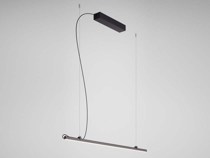 Lampada a sospensione a LED a luce diretta in alluminio anodizzato FREELINE F44 | Lampada a sospensione by Fabbian