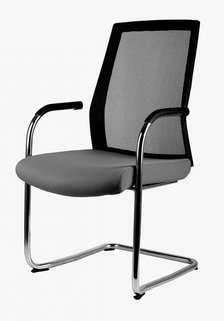 Cantilever chair with armrests FREENET | Cantilever chair by MASCAGNI