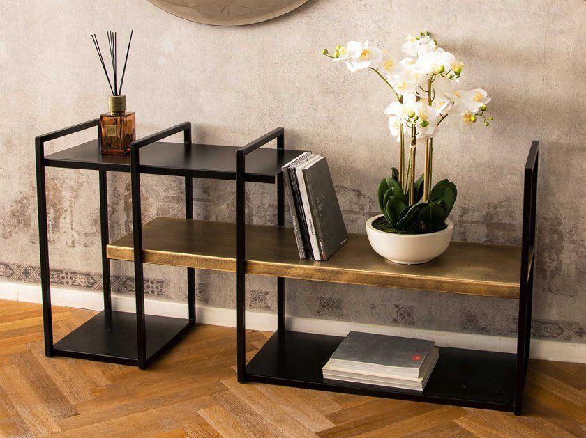 Open freestanding double-sided metal bookcase FREEWALL | Bookcase by RIFLESSI