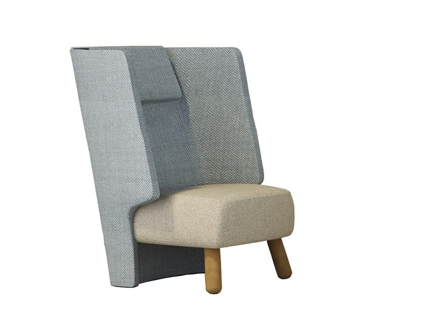 High-back fabric armchair FREJA | High-back armchair by Tuna Ofis