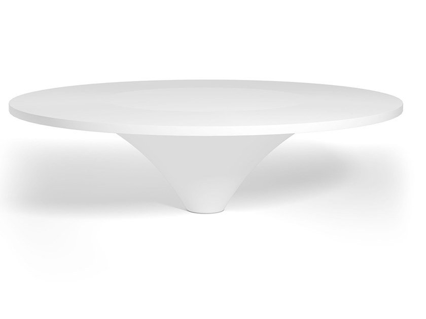 Round Corian® table FRENCH CONCESSION by DE PADOVA