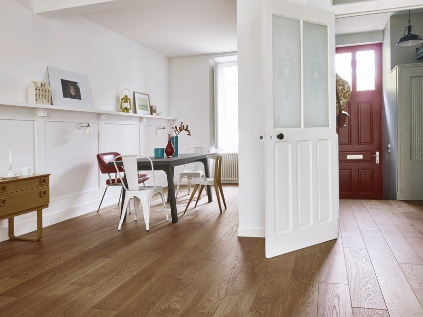 Engineered wood floor FRENCH OAK AUTHENTIC CUIR DIVA 184 by PANAGET
