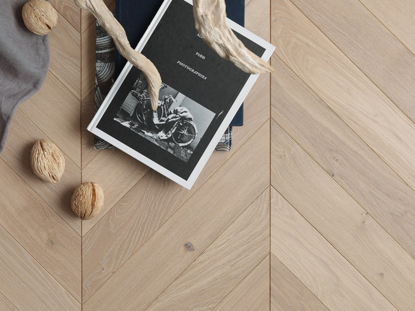 Engeneered Wood Floor French Oak Authentic Tufeau Chevron 90 By Panaget