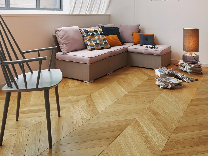 Engineered Parquet French Oak Classic Satin Chevron 90 By Panaget