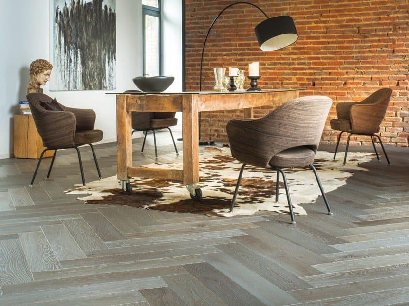 Engeneered wood floor FRENCH OAK DOLMEN HERRINGBONE 139 by PANAGET