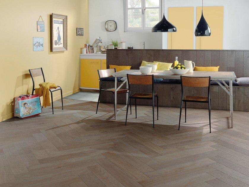 Engineered wood floor FRENCH OAK FLANELLE HERRINGBONE 139 by PANAGET