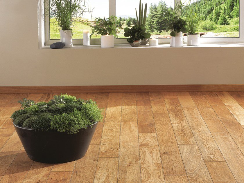 Solid wood floor FRENCH OAK ZENIT. NATURAL OIL SONATE 140 by PANAGET