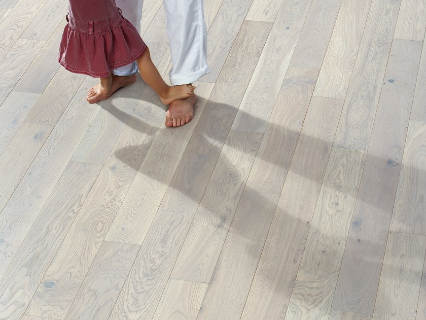 Solid wood floor FRENCH OAK ZENITUDE GREY OIL SONATE 140 by PANAGET